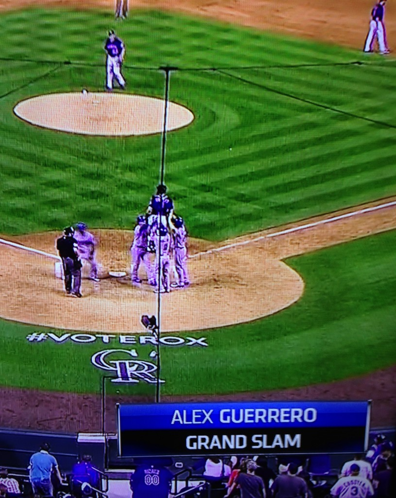 Alex Guerrero's grand slam. June 2, 2015