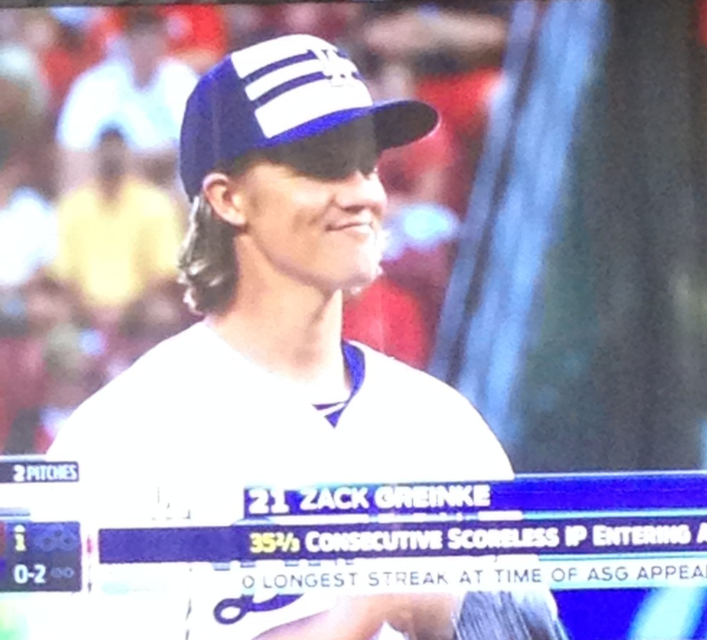 Zack Greinke pitches for the National League in the All-Star Game. July 14, 2015.