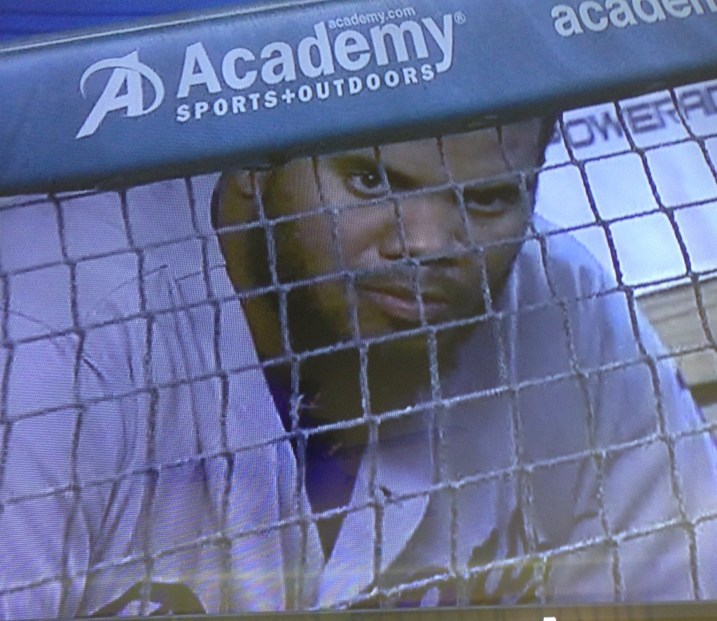 Kenley Jansen looks angry. August 23, 2015.