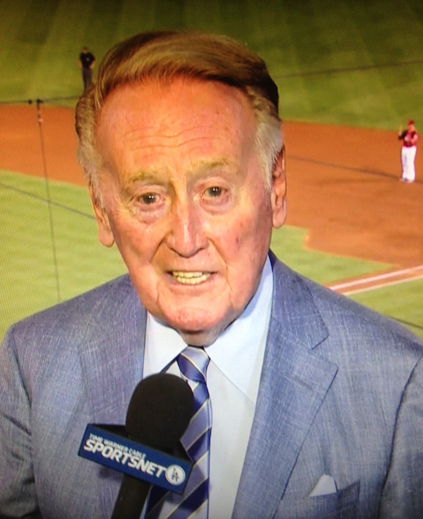 Vin Scully. September 9, 2015.