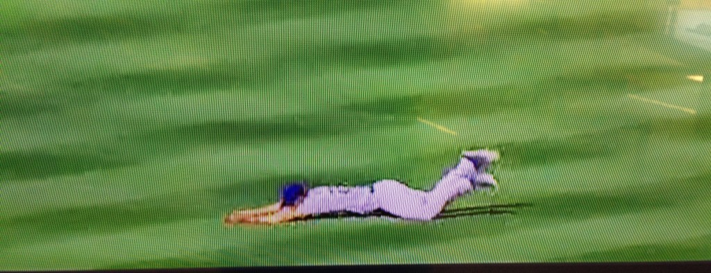 Joc Pedersons sliding catch. September 27, 2015.
