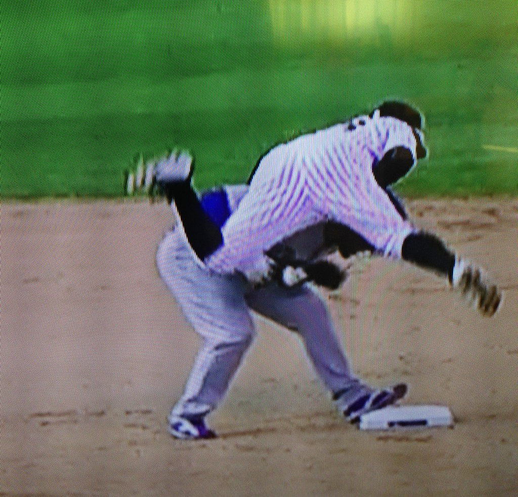 Collision at second base. September 27, 2015.